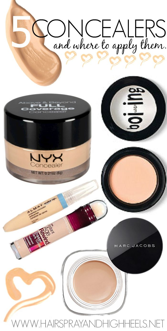 The 5 Best Concealers! Pin now, read later! If you need ...
