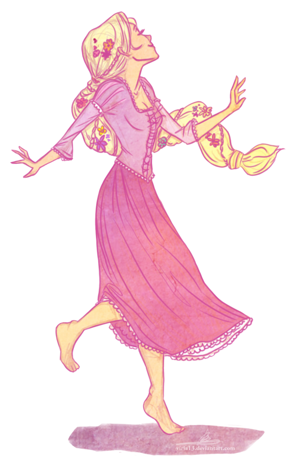 Dance for the joy of it  Rapunzel by *viria13 on deviantART