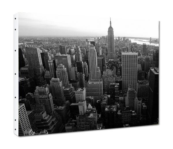 tableau toile new york vu du ciel noir et blanc mandellia fr