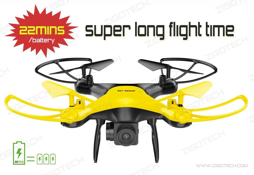 Zigo Tech 22 Minutes Super Long Flight Time Drones One Battery