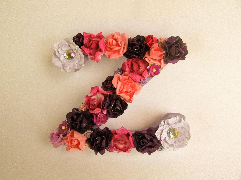 Custom name letter   Personalized letter Z   Flower name letter