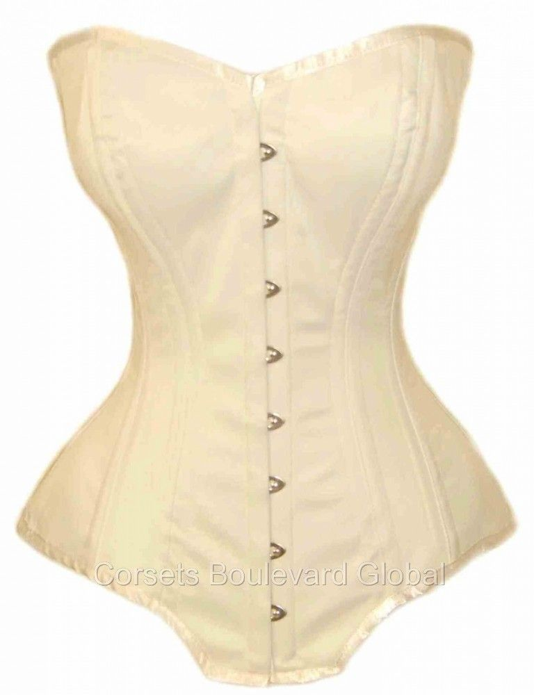 96f2461d81 Bridal Satin Waist Training Corset with Larger Bust and Hips - Overbust -  for 10