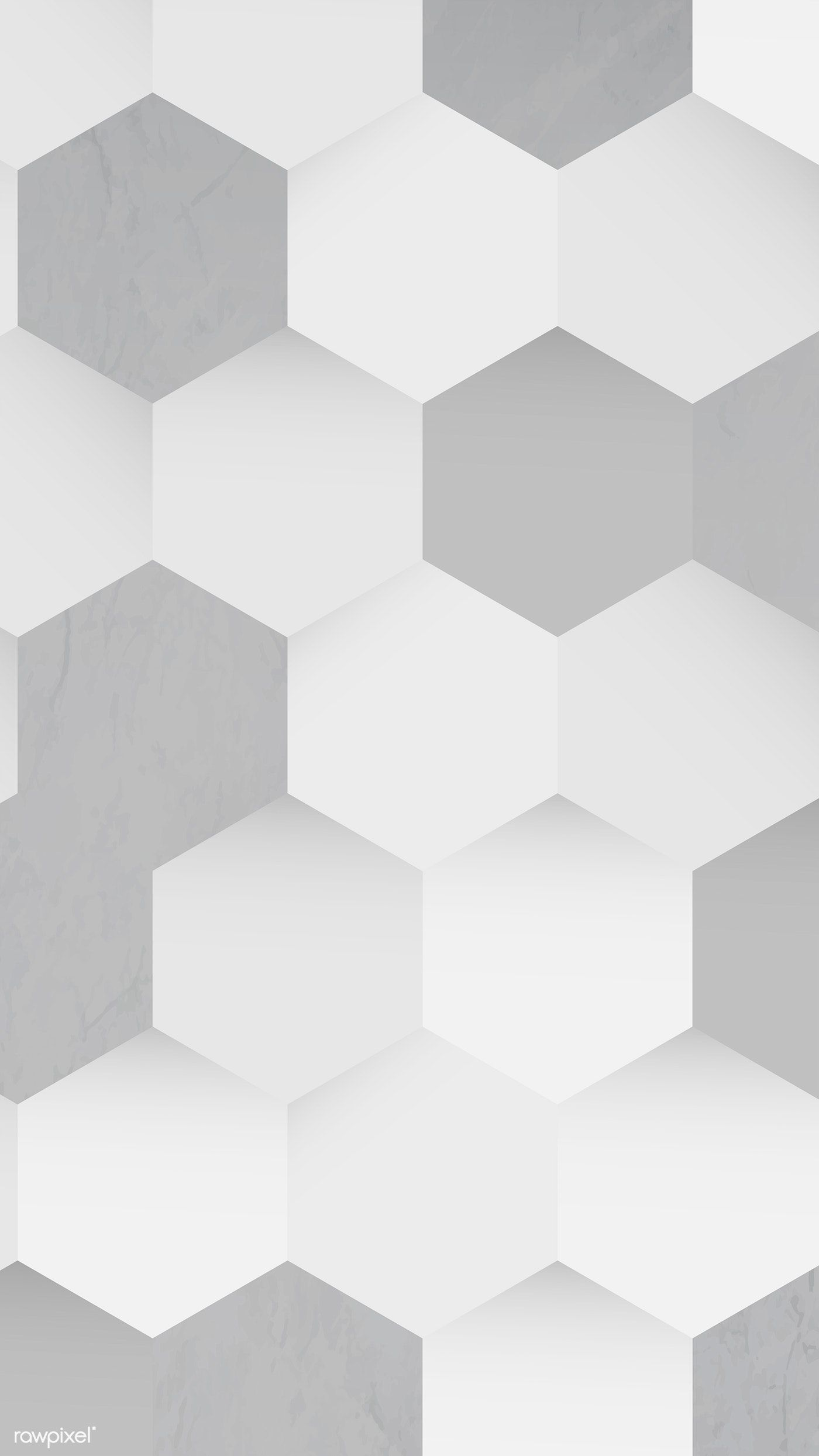 Download Premium Vector Of White And Gray Seamless Round Pattern