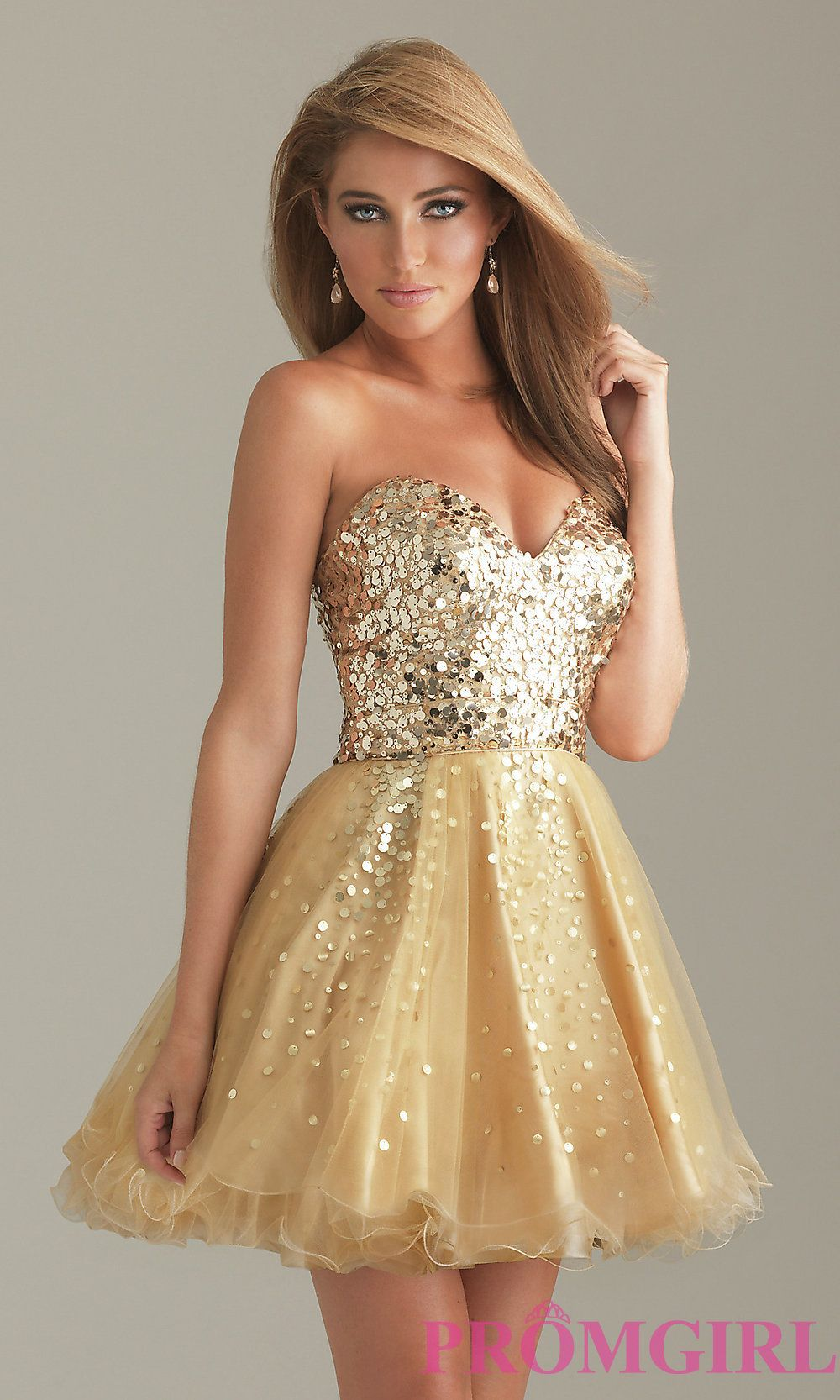 Short Gold Prom Dresses From PromGirl