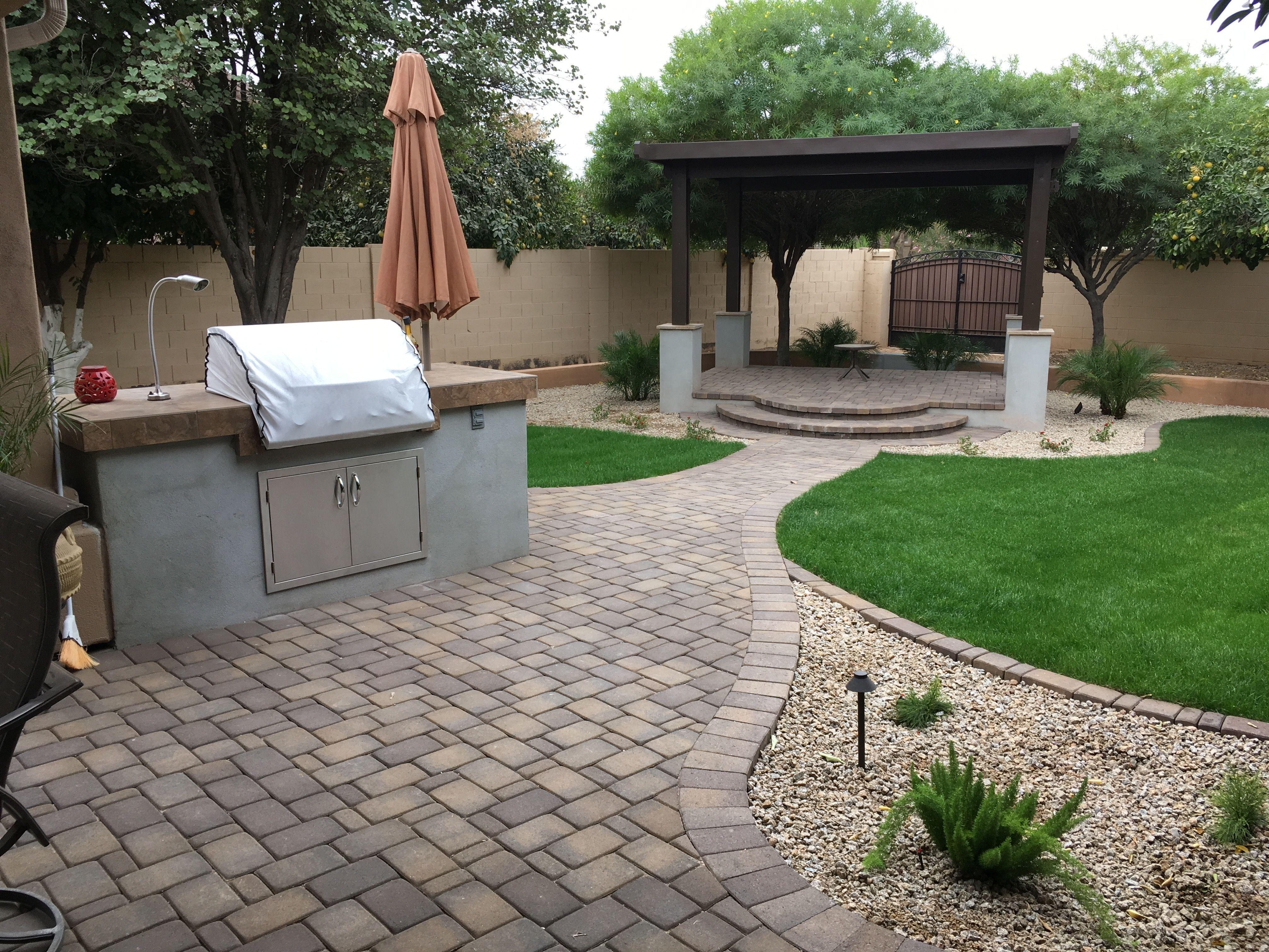 Arizona Backyard Design With Simple Backyard Pation Ideas Patio