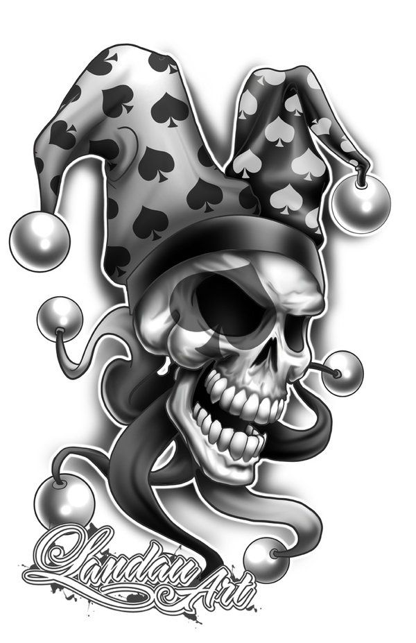 Jester Tattoo Flash By Landonlarmstrong On Deviantart Jester Tattoo Evil Clown Tattoos Clown Tattoo