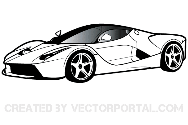 Cool car. Ferrari clipart free vectors