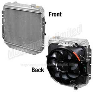 Flex A Lite Flex A Fit Radiator And Fan Kit For 1965 1966 Mustang