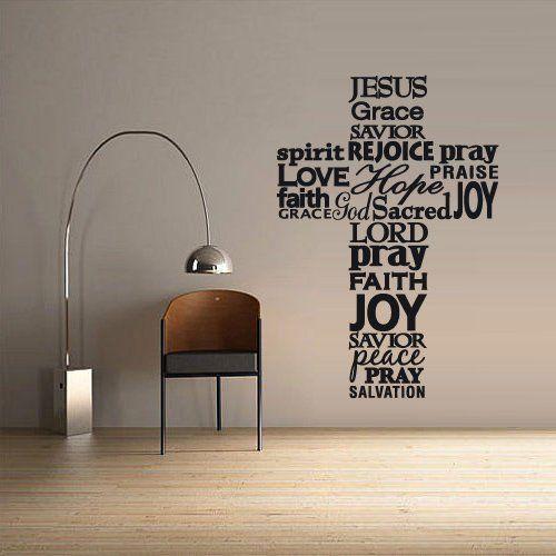 Wall Decal Vinyl Sticker Decals Art Decor Design Cross Jesus ...