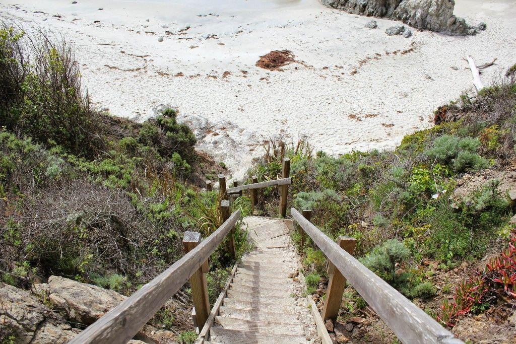 Gibson Beach Stairs Point Lobos Carmel Travel