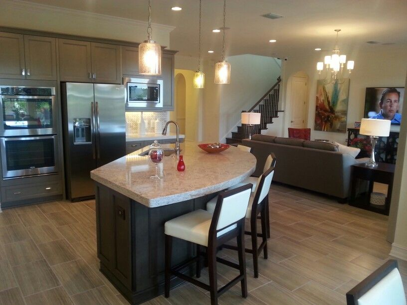 Trinity model kitchen and living room