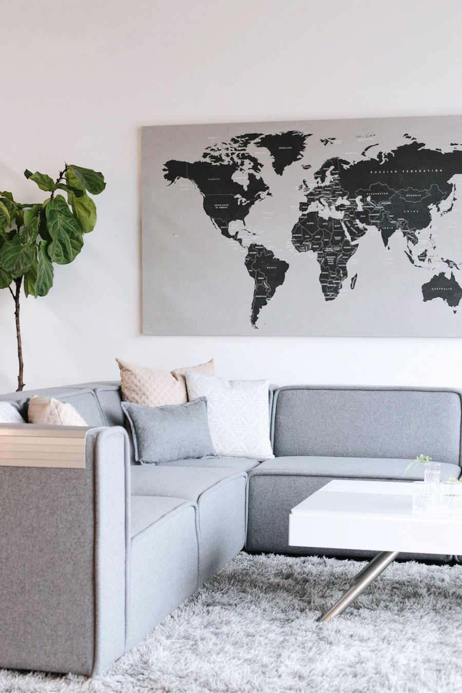 danish modern living room // anne sage | Fresh Living Room Design ...