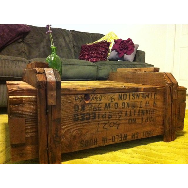 shipping crate coffee table. | salvaged | pinterest | shipping