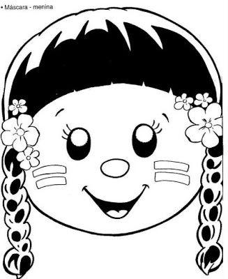 Baú da Web: Máscaras de Índio para imprimir e colorir   School ...