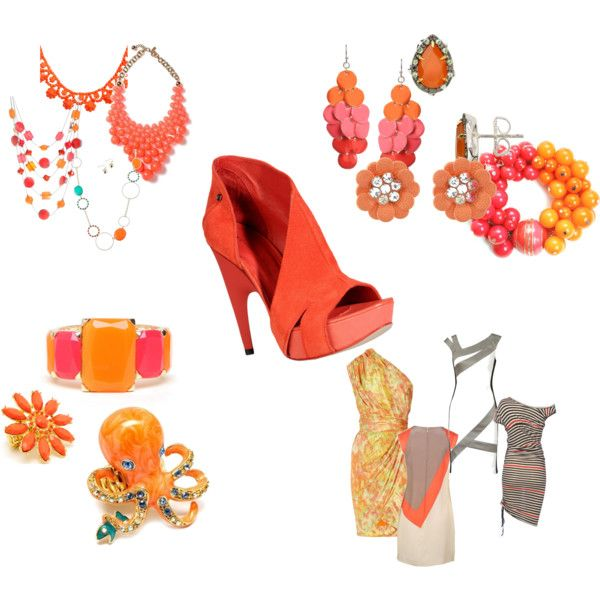 that white dress & that gawwt damn shoe....my gawwwwwd : It's all about finding the perfect orange shoe