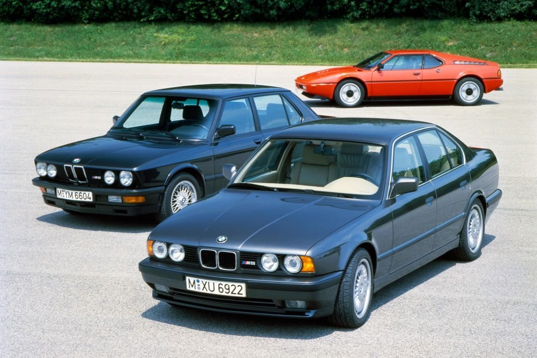 Two Bmw M5 E28 And E34 And A Bmw M1 A Rare Meeting But A