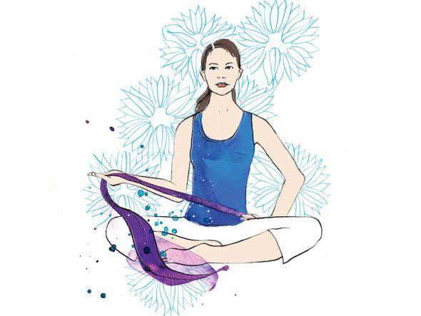 Pilates gegen Verspannungen: Übung mit dem Thera-Band
