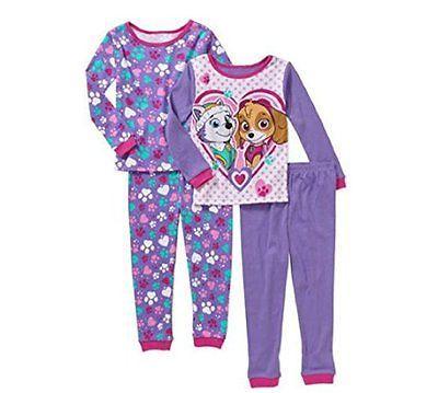 Sleepwear 163400  Paw Patrol Everest And Skye Toddler Tight-Fit Cotton  Pajamas 29ef7248b