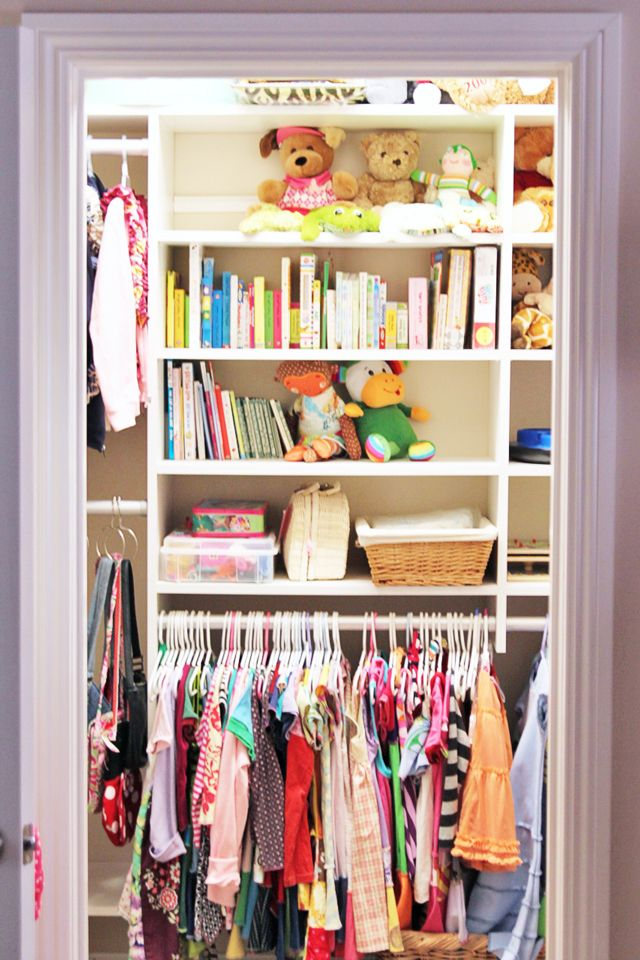 Closet Organization!  Lower The Clothes Rod Or Use Shower Curtain Rod So  Little People Can Hang Up Their Own Clothes!