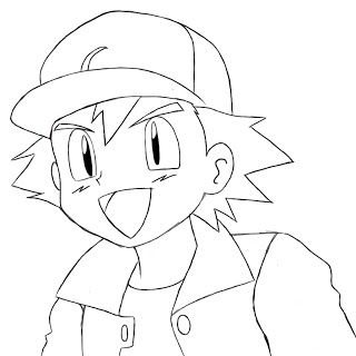 How To Draw Ash Ketchum Draw Central Easy Pokemon Drawings Pikachu Drawing Pokemon Drawings