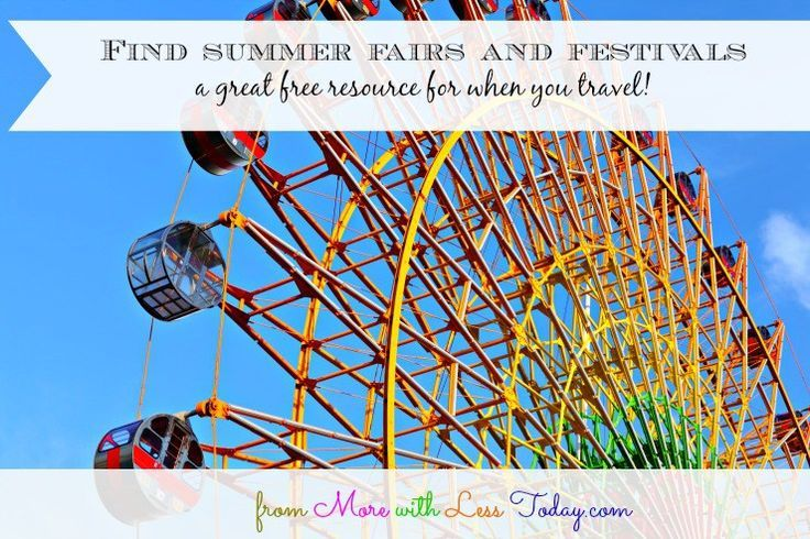 find summer fairs and festivals, locate summer fairs by
