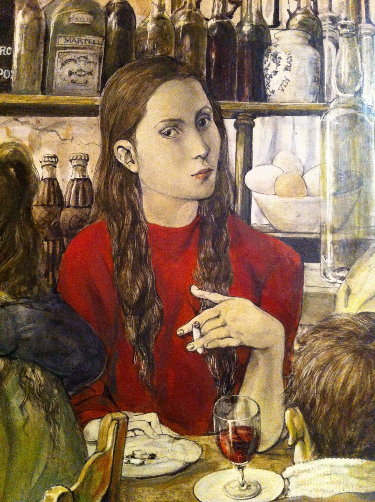 Vision Leonard Foujita 1886 1968 Un Bistrot Du Painting Wine Art Art