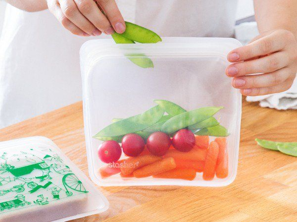Reusable Silicone Bags That Do A Lot More Than Hold Snacks They Go From Pantry To Freezer Microwave And Dishwasher No More Throwaway Pl Bag Storage Food Baby Food Recipes