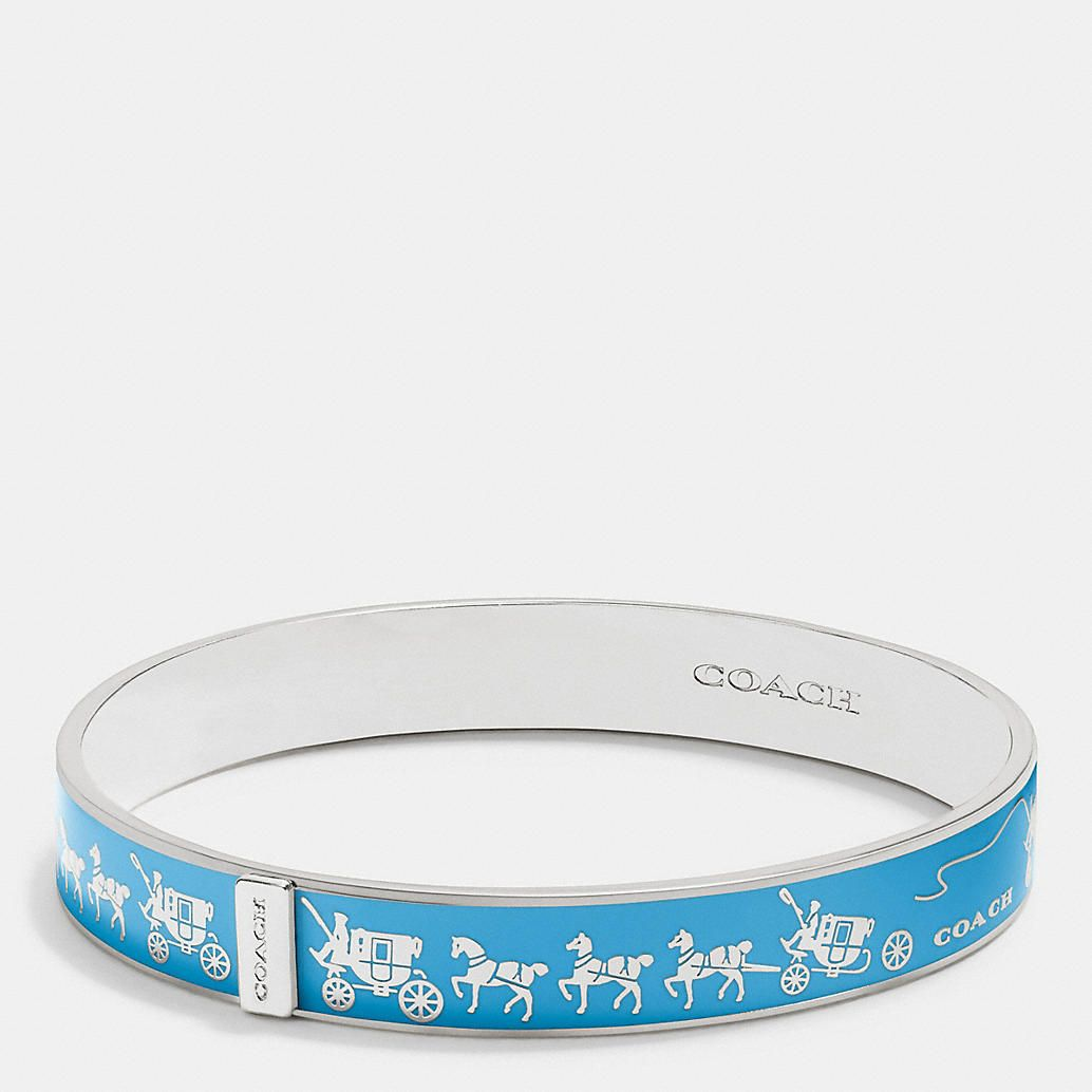Coach Horse and Carriage Enamel Bangle