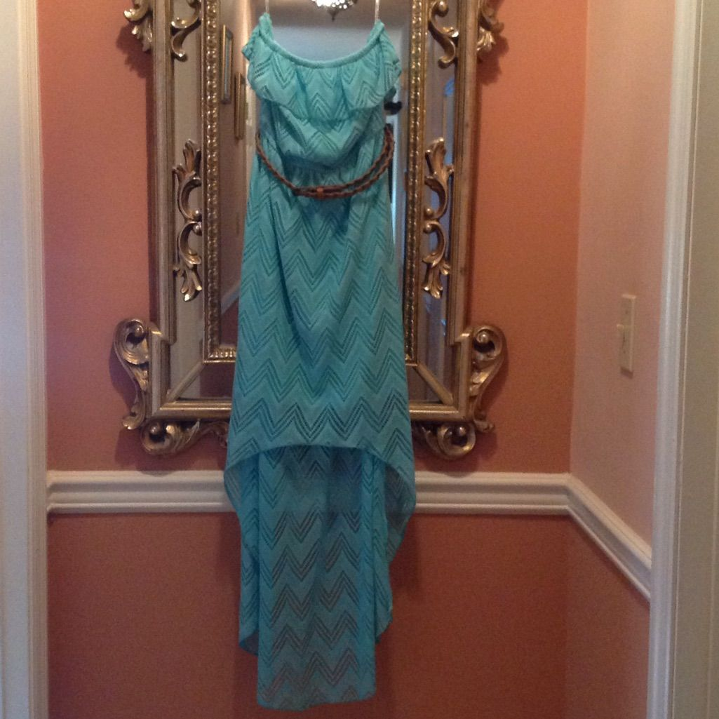 Small mint green high low maxi dress products