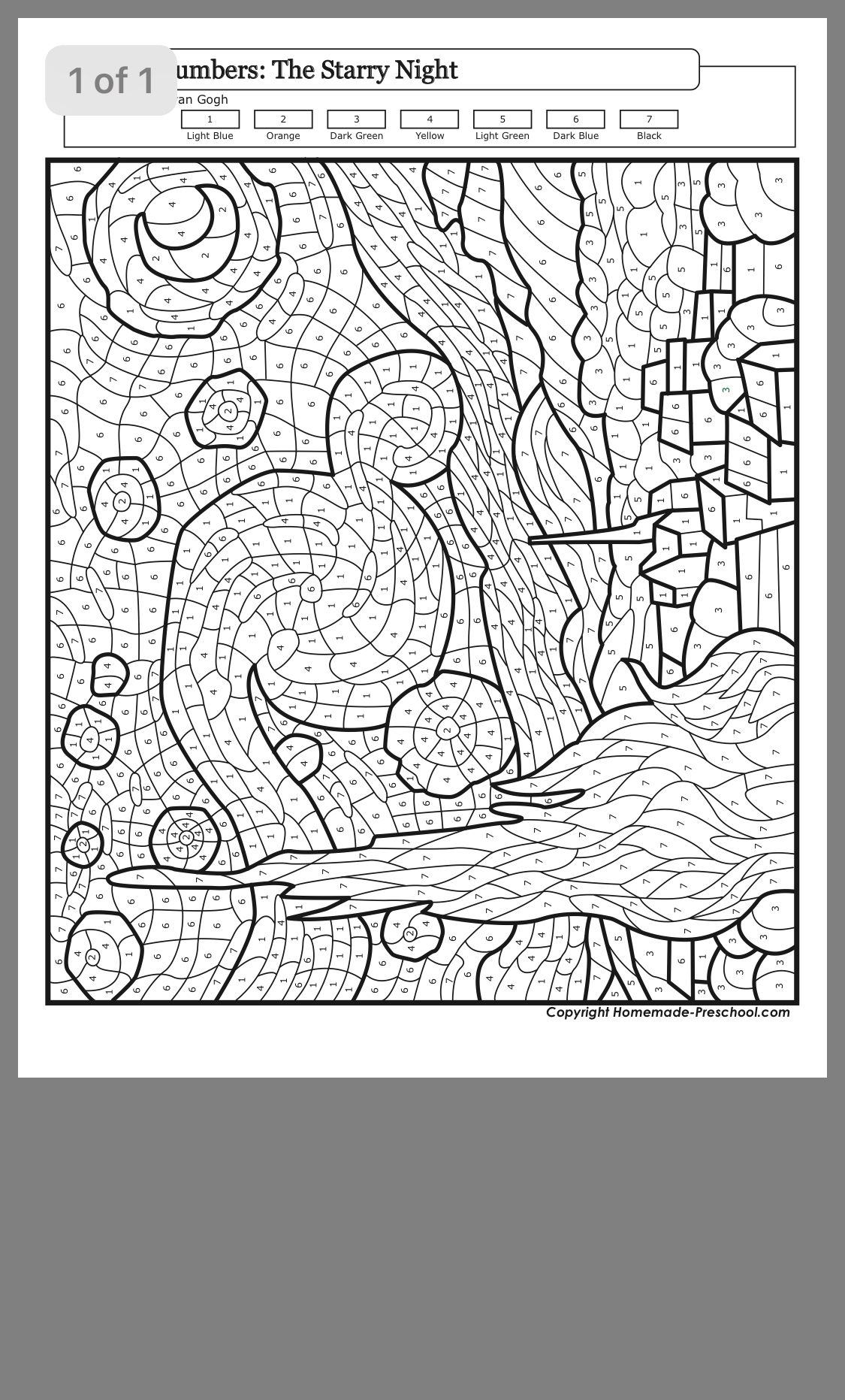 Abstract Color By Number Printable For Adults