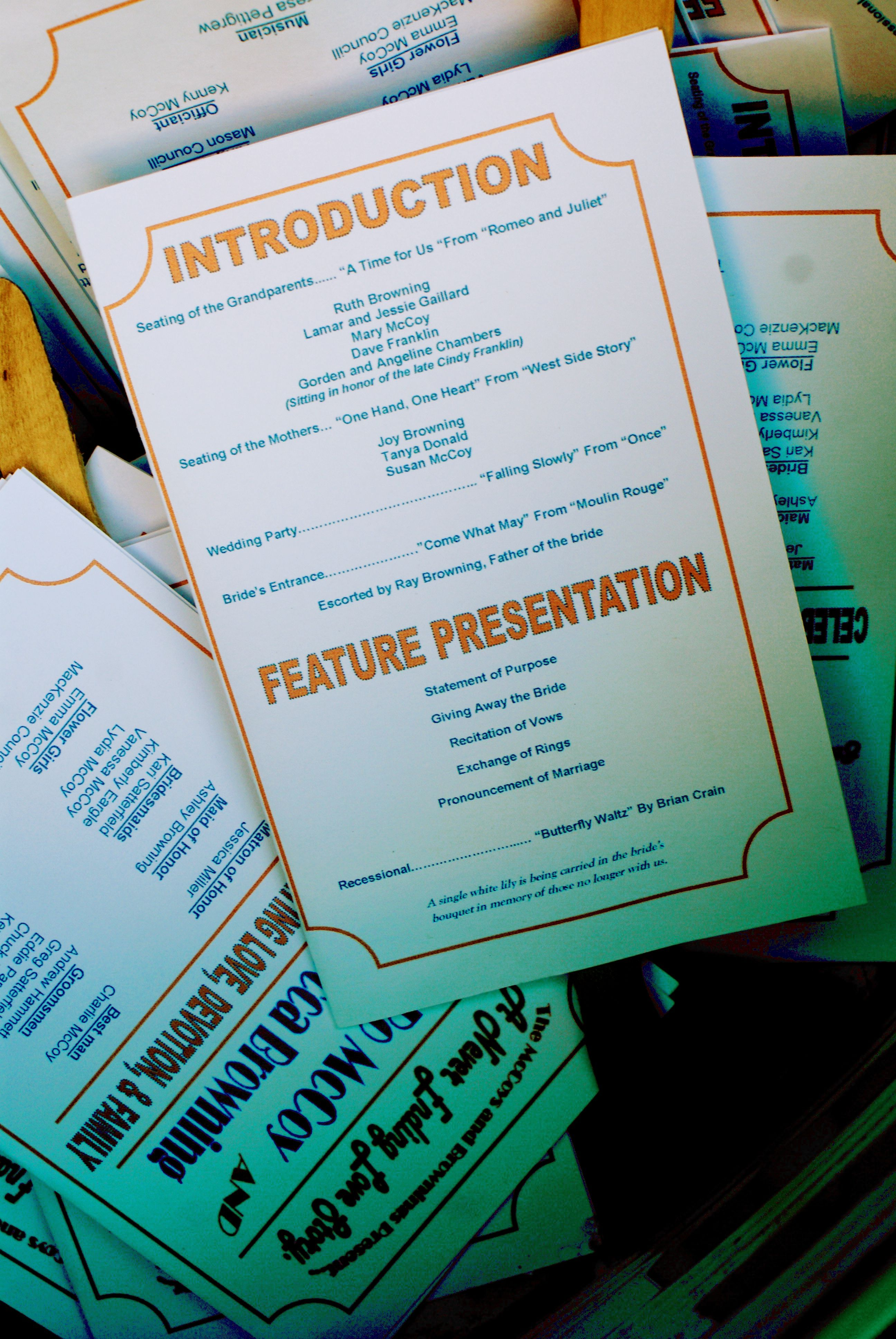 movie theme wedding programs - really would like a movie themed, Powerpoint templates