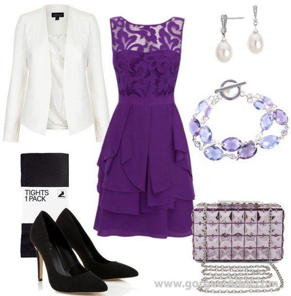 Purple Winter Wedding Guest Dresses