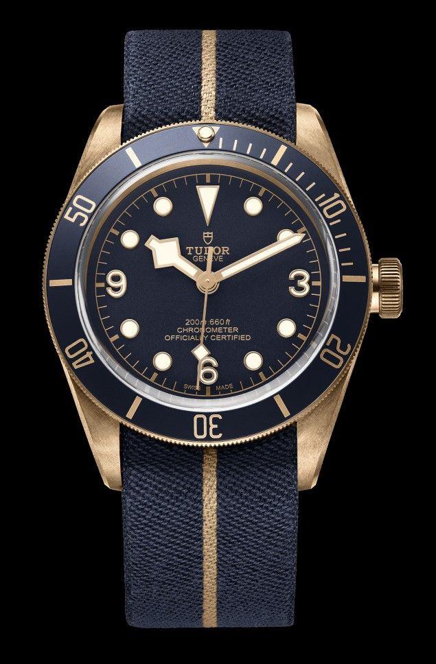 Tudor Heritage Black Bay Bronze Blue Edition watch - Bucherer Exclusive -  Perpetuelle 788b759fed16