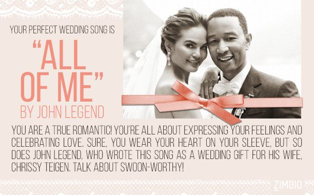 John Legend Wedding Songs.What S Your Perfect Wedding Song Music Perfect Wedding