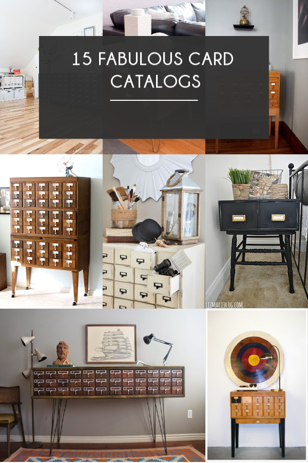 Card Catalog Home Decor | brepurposed