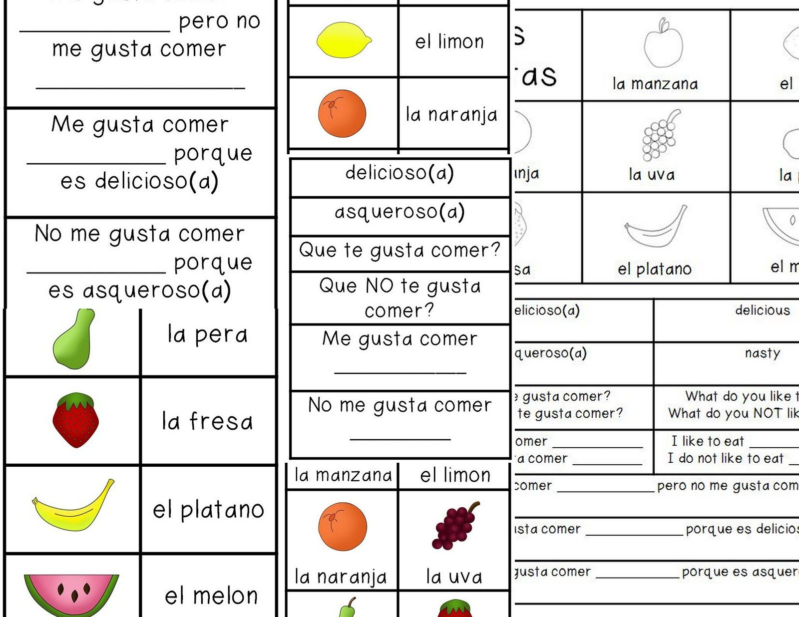 Worksheets En Espanol