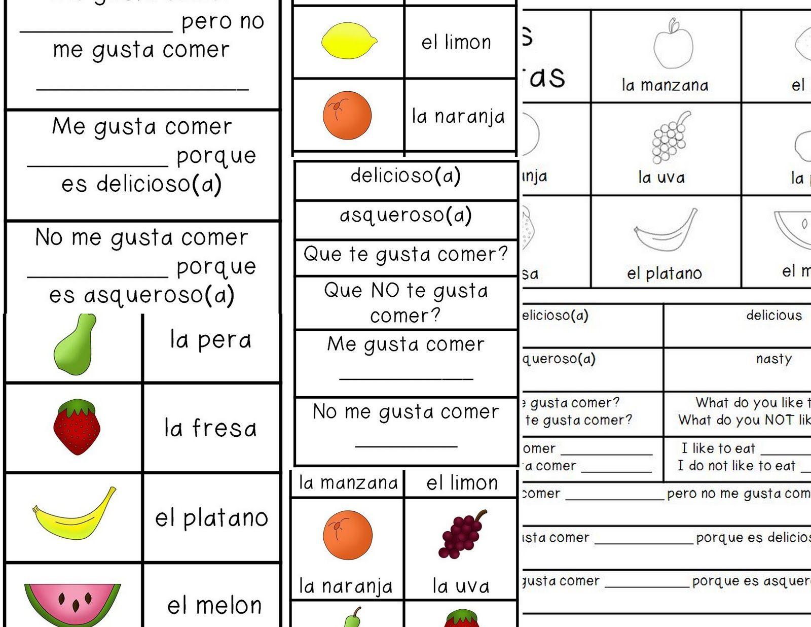 coloring pages las frutas spanish - photo#17