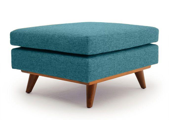 Rove Concepts Furniture Mid Century Ottoman Modern Ottoman Mid