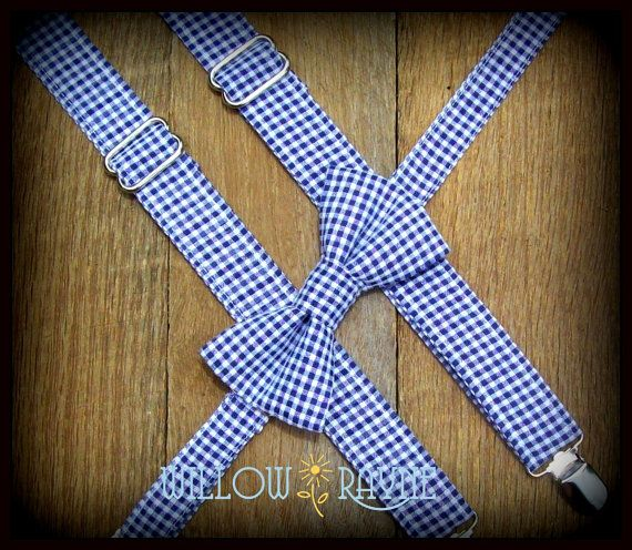 Boy's Suspenders Gingham - Many colors to choose from on Etsy, $20.00