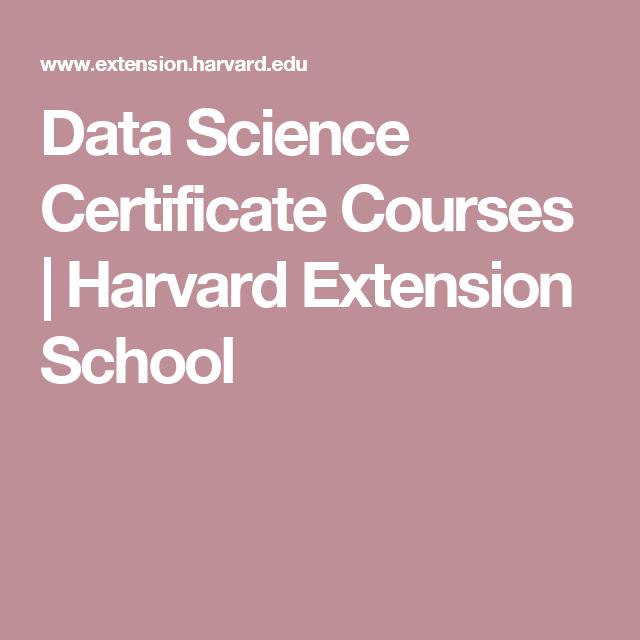 Data Science Certificate Courses