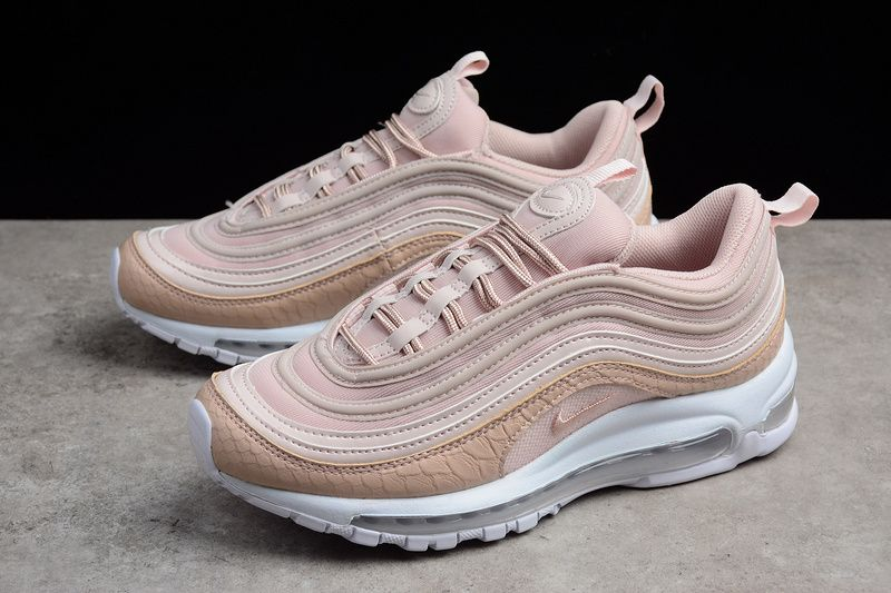 2018 Shop Nike Air Max 97 Pink Scales White Nike Swoosh Logo, Air Max 97