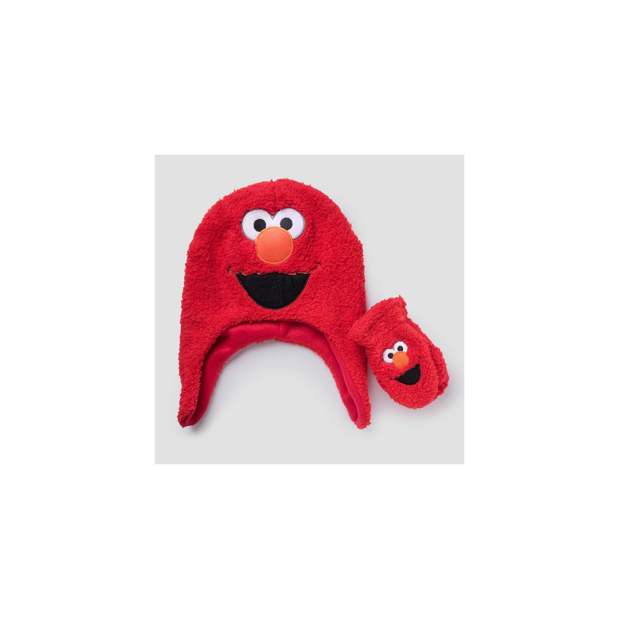 142037af2342f Toddler Boys  Elmo Sesame Street Hat and Mitten Set - Red One Size ...