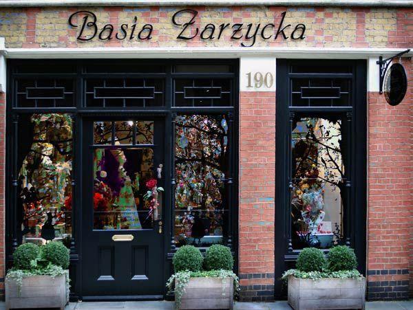 Basia Zarzycka shop at 190 Pavilion Road, Sloane Square, London SW3 - fachadas originales