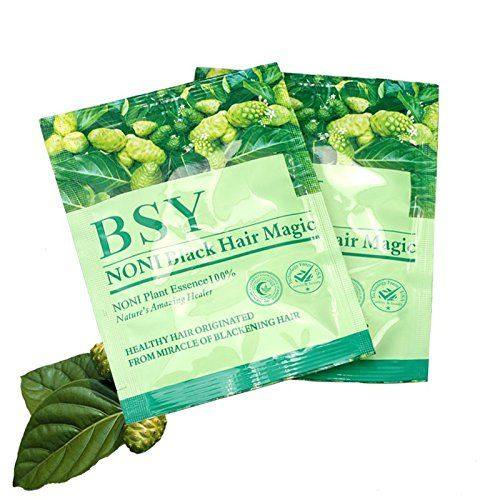 SAVE! 20x 20g. BSY NONI BLACK HAIR COLOR Organic Natural Hair Dye (Black) Covers Grey Hairs (No PPD para-phenylenediamine). BSY NONI BLACK HAIR COLOR. Product from Thailand. Quantily 20 piece. Natural Herbs. Nourish your hair shiny.