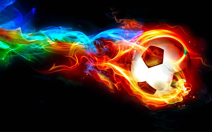 Fondo De Pantalla Linda Futbol: Descargar Fondos De Pantalla 4k, El Fútbol, El Fuego, El
