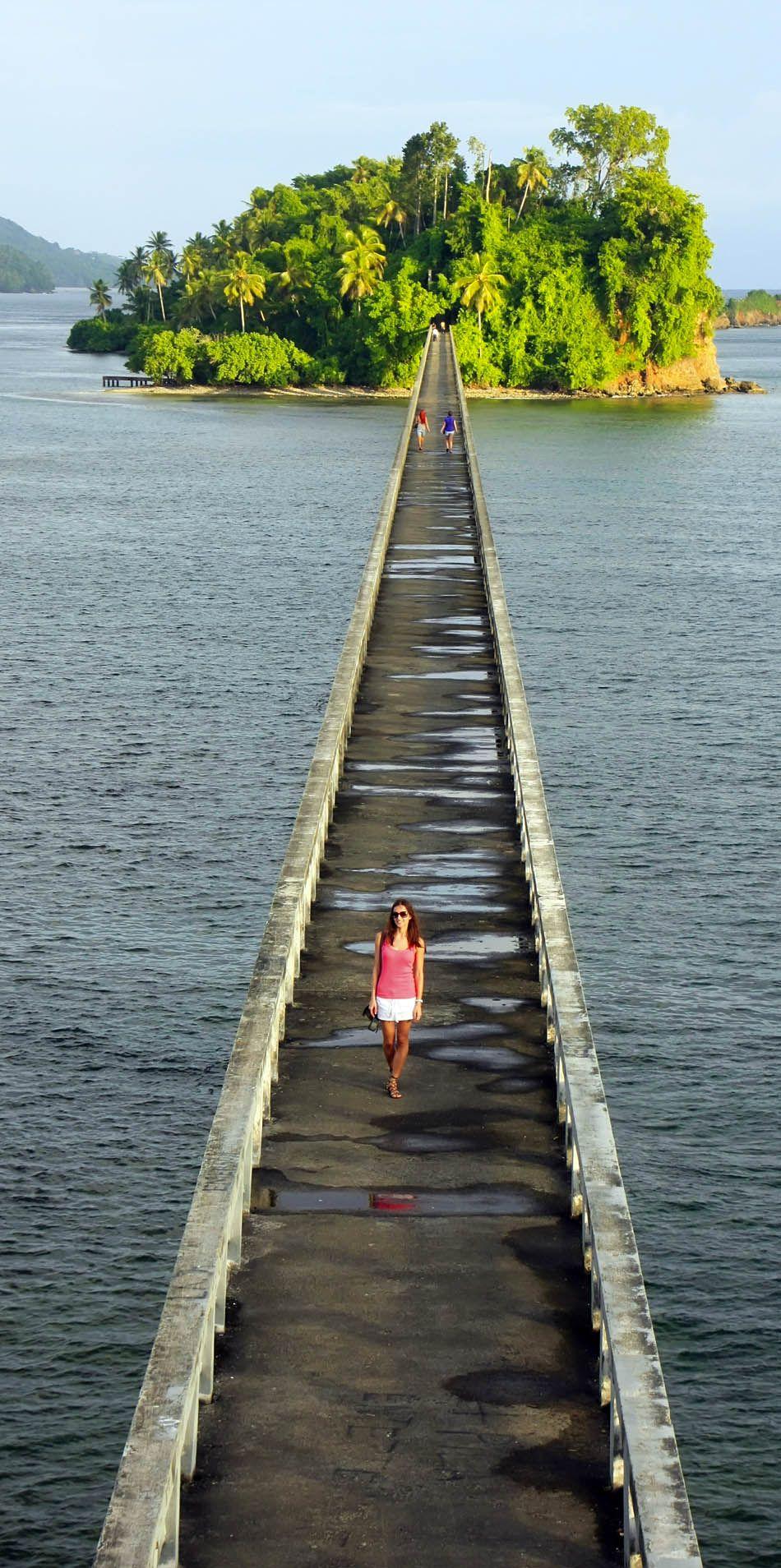 Beautiful bridge in Samana Bay Dominican