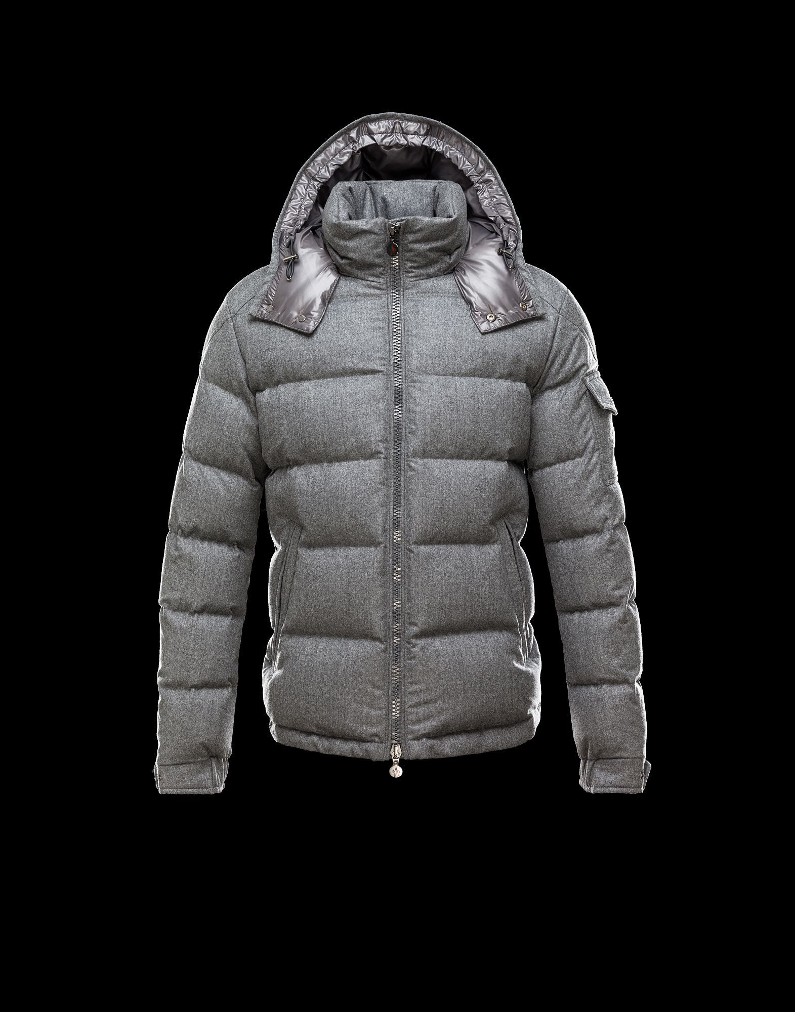 France Moncler Montgenevre Winter Jackets For Men Gray Outlet