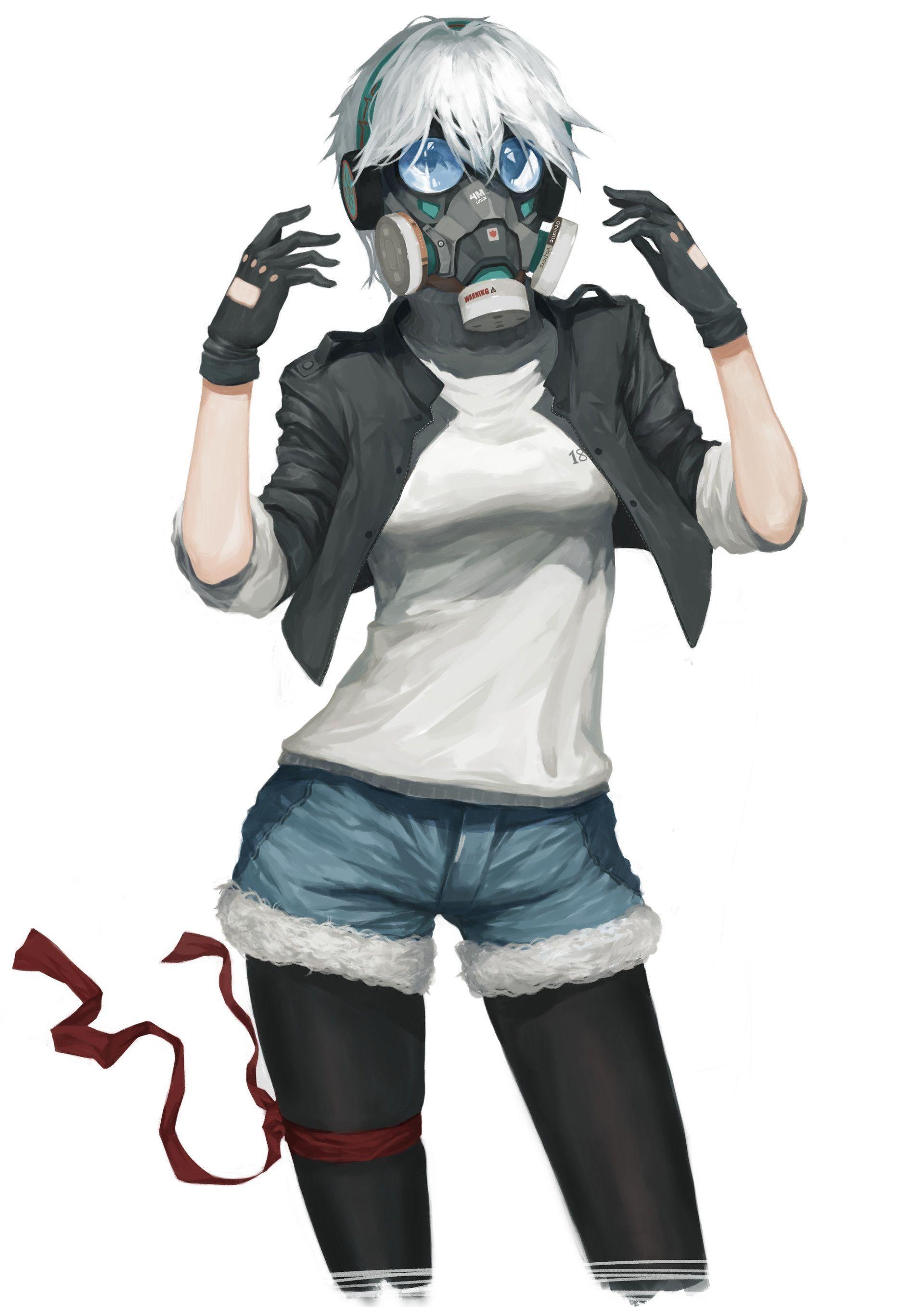 Fresh Masked Anime Characters Gadis Animasi Makhluk Fantasi Animasi