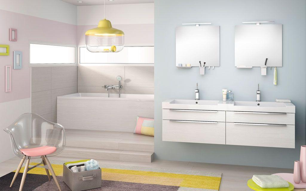 Meuble de salle de bains Inspiration 90 blanc de Delpha Quarto de