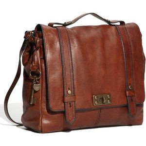 16600 Nordstrom Fossil Vintage Reissue Crossbody Bag Purse Brown Leather
